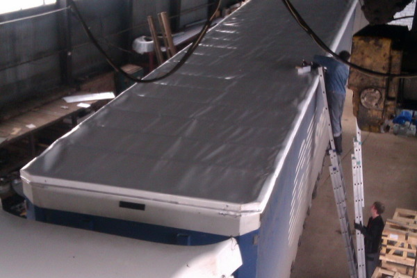 Крыша на фуру из ПВХ-ткани.