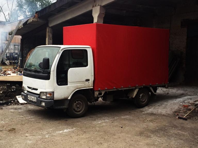 ПВХ-ткань красного цвета для тента грузовика