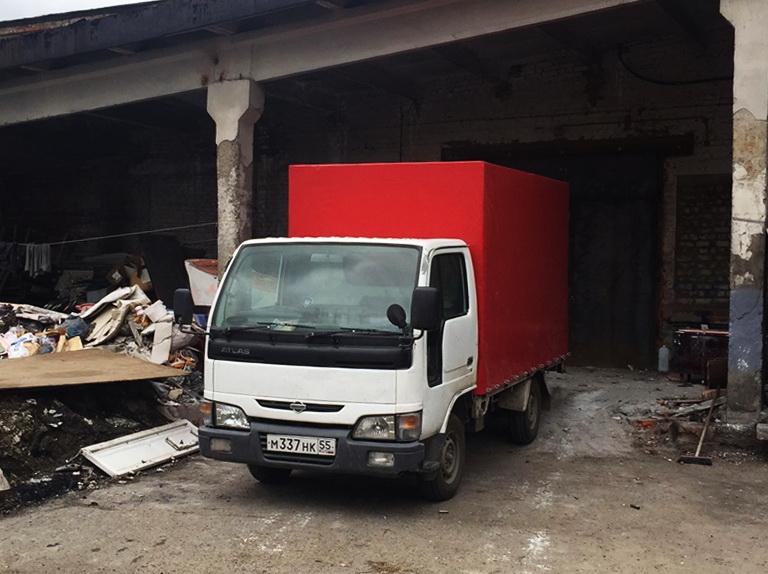 ПВХ-ткань красного цвета для грузовика Nissan