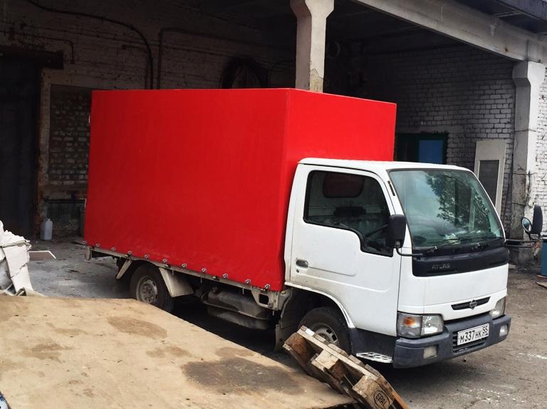 Ткань-ПВХ для автотента на грузовик Nissan