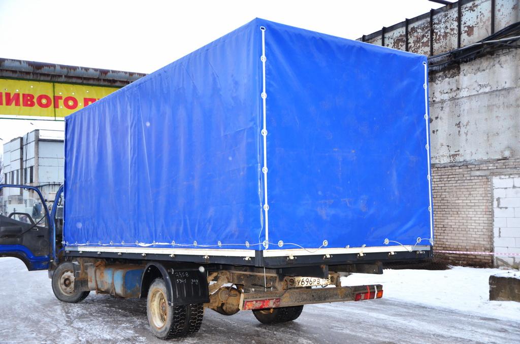Ткань синяя 630 для тента грузовика Foton