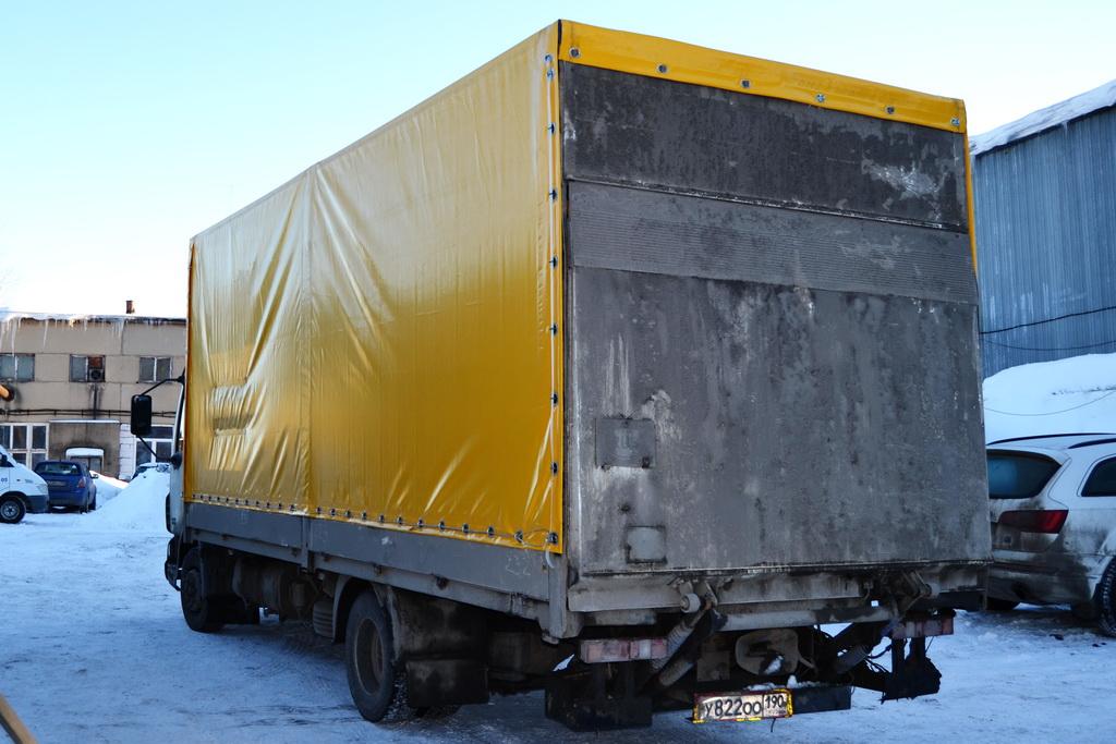 Ткань-ПВХ Proftent 630 желтого цвета для грузовика DAF LF